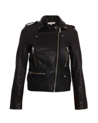 Paul & Joe - Black Cabotin Leather Biker Jacket - Lyst