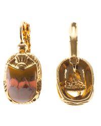 Gas Bijoux | Metallic Scarab Beetle Earrings | Lyst