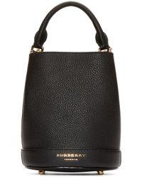 Burberry Prorsum - Black Leather Small Bucket Bag - Lyst