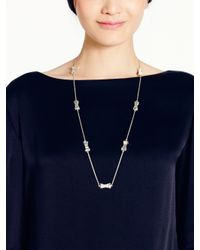 kate spade new york | Metallic Moon River Scatter Necklace | Lyst
