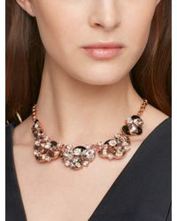 kate spade new york - Metallic Fame And Flowers Necklace - Lyst