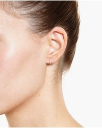 Rosa De La Cruz | Metallic 18k Yellow Gold And Diamond Earrings | Lyst