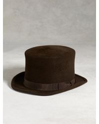 John Varvatos | Brown Rabbit Hair Top Hat for Men | Lyst