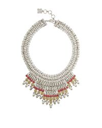 BCBGMAXAZRIA | Metallic Baguette-stone Statement Necklace | Lyst