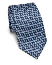 Ferragamo - Blue Gancini Silk Tie for Men - Lyst