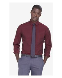 Express | Red Slim Iridescent 1mx Shirt for Men | Lyst