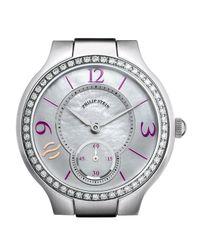 Philip Stein - Metallic Small Round Diamond & Mother-of-pearl Watch Head - Lyst