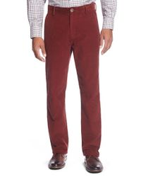 Cutter & Buck | Red 'walker' Straight Leg Corduroy Pants for Men | Lyst