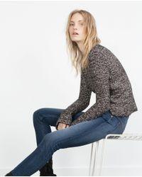 Zara | Blue Mid-rise Skinny Jeans | Lyst