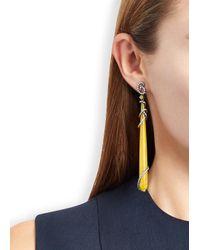 Bochic - Natural Honey Jade And Diamond Earrings - Lyst