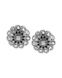 Betsey Johnson - Metallic Flower Stud Earring - Lyst