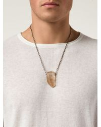 Joseph Brooks | Metallic Crystal Pendant Necklace for Men | Lyst