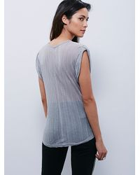 Free People | Gray Intimately Womens Intimately Muscle Tee | Lyst