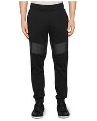 Calvin Klein - Black Ck One Faux-leather Slim-fit Jogger Pants for Men - Lyst