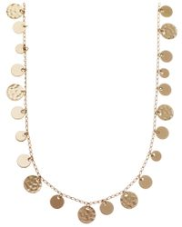 Nine West | Metallic Standange Long Necklace | Lyst
