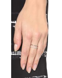 KC Designs - White Bar Ring - Lyst