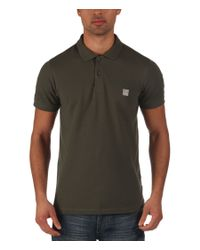 Bench   Natural Crystalline Plain Regular Fit Polo Shirt for Men   Lyst