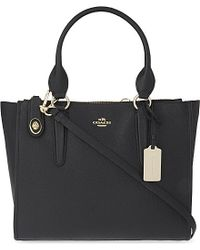 COACH | Black Crosby Grained Leather Shoulder Bag | Lyst