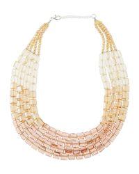 Panacea - Metallic Multi-strand Ombre Crystal Necklace - Lyst