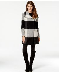 Ivanka Trump | Black Plaid Walker Coat | Lyst