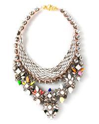 Shourouk | Multicolor 'river Cosmic' Necklace | Lyst