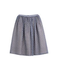 Michael Kors - Diamond Flared Skirt - Blue - Lyst