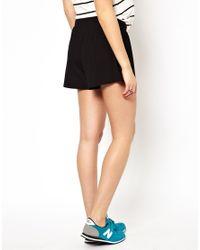 ASOS - Black Culotte Short - Lyst