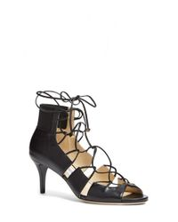 Jimmy Choo | Black 'myrtle' Laced Leather Bootie | Lyst