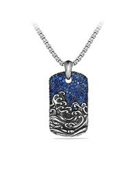 David Yurman | Blue Waves Tag Necklace for Men | Lyst