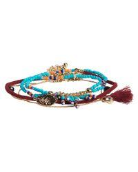 Aéropostale | Multicolor Leaf & Beads Bracelet 4-pack | Lyst