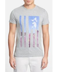 French Connection - Gray 'Highway Usa' Graphic T-Shirt for Men - Lyst