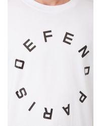Forever 21 - White Defend Paris Varsity-striped Tee for Men - Lyst
