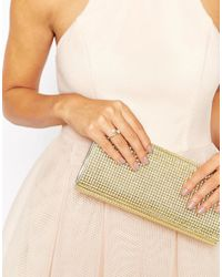 ASOS - Metallic Open Twist Double Faux Pearl Ring - Lyst