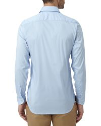 Lacoste - Blue Long Sleeve City Shirt for Men - Lyst