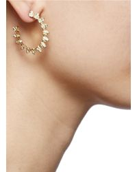 Eddie Borgo | Metallic Pavé Mini Cone Small Hoop Earrings | Lyst