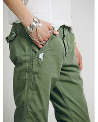 Free People - Green Edith Washed Trouser - Lyst