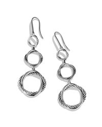 David Yurman - Metallic Infinity Triple-Drop Earrings - Lyst