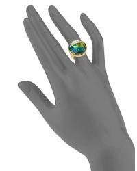 Trina Turk - Green Iridescent Stone Cocktail Ring - Lyst