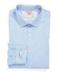 Original Penguin - Blue Slim Fit Check Dress Shirt for Men - Lyst