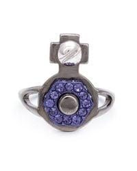 Vivienne Westwood | Blue 'jolene' Orb Ring | Lyst