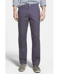 Bonobos | Purple Straight Fit Washed Chinos for Men | Lyst