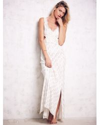 Free People | White Cross My Heart Dress | Lyst