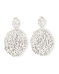 Aurelie Bidermann - Metallic Vintage Lace Earrings - Lyst