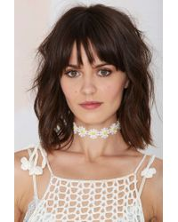 Nasty Gal - White Daised And Confused Choker - Lyst