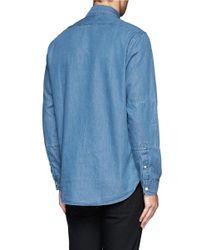 Paul Smith - Blue Welt Chest Pocket Denim Shirt for Men - Lyst