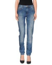 Just Cavalli - Blue Denim Trousers - Lyst