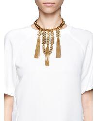 Ela Stone - Metallic Gwen Chain Plastron Choker Necklace - Lyst