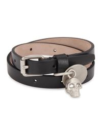 Alexander McQueen | Black Leather Wrap Bracelet for Men | Lyst