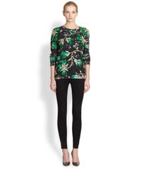 Mary Katrantzou | Green Embroidered Roush Print Sweatshirt | Lyst