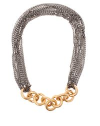 Annoushka | Metallic Bronze And Silver Short Foundry Necklace | Lyst